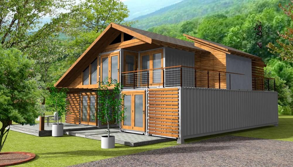 CASA DEVA   Casa din lemn, zidarie sau containere