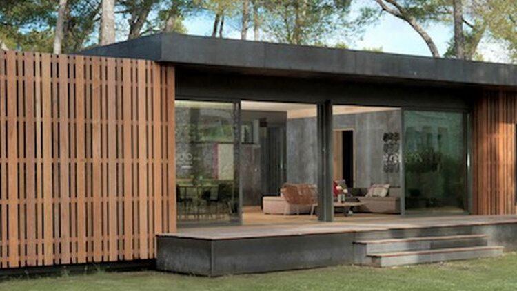 Casa din lemn si polistiren | Casa Pop Up din panouri SIP
